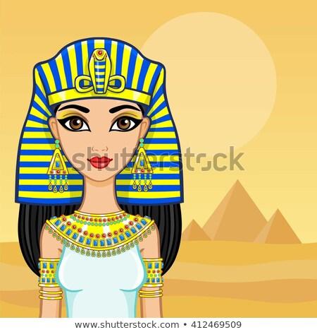 Egípcio paisagem ilustração pôr do sol viajar ouro Foto stock © adrenalina