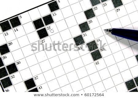 Puzzle szó lehetséges kirakó darabok építkezés játék Stock fotó © fuzzbones0