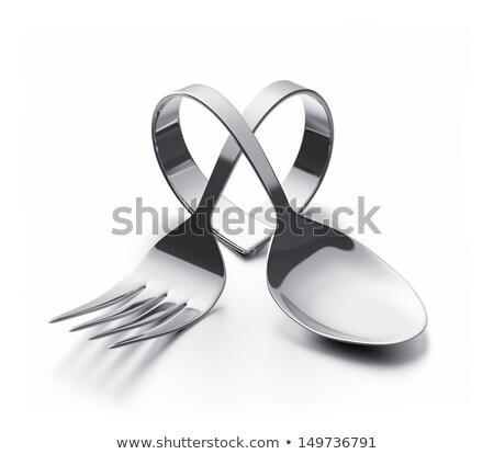 Garfo coração silhueta topo Foto stock © coolgraphic