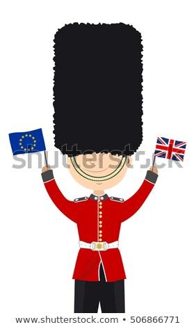 Vicces Euro katona réteges illusztráció könnyű Stock fotó © DzoniBeCool