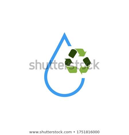 triangular drop green concept of ecology design Stock photo © Panaceadoll