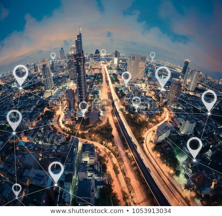 Buildings and transportation on earth Stock photo © bluering