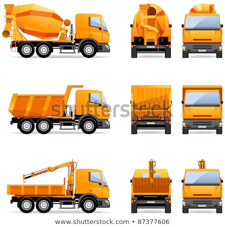 Dumping trucks in yellow color Stock photo © bluering