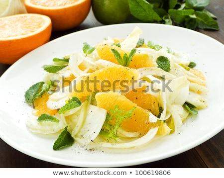 фенхель Салат апельсинов оранжевый морковь оливками Сток-фото © Lana_M
