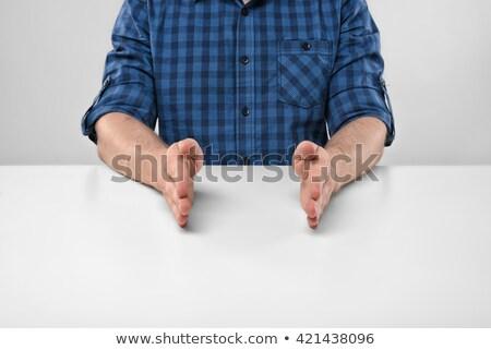 Biznesmen strony mały rozmiar Zdjęcia stock © dolgachov