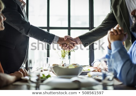 Working Business Meal Stock photo © Lightsource