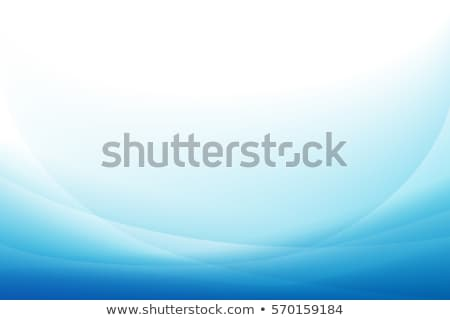 Abstract template background with blue curved wave.  Stock photo © fresh_5265954