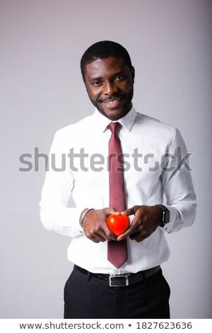 большой · красный · сердце · изолированный · белый · любви - Сток-фото © rastudio