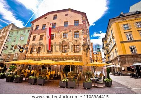 Historic street of Innsbruck view Stock photo © xbrchx