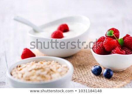 blueberries in white ceramic bowl stock photo © stevanovicigor
