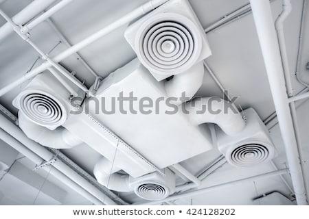 przemysłowych · wentylacja · rur · magazynu · sufit · budynku - zdjęcia stock © stevanovicigor