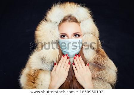 красивой модель портрет моде подвесной Сток-фото © chesterf