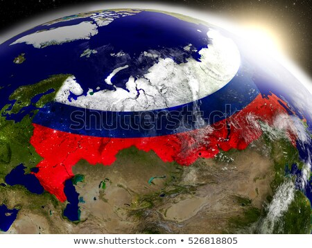 Stock photo: Russia 3d planet