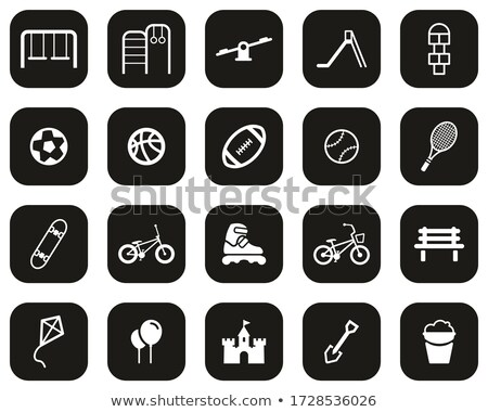 Icon playground baseball , vector illustration. stock photo © kup1984