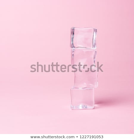 Transparent ice cubes, cold and fresh concept Stock photo © JanPietruszka