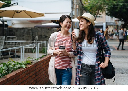 two sisters going to market stock photo © is2