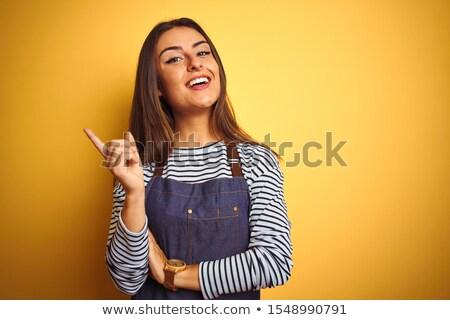 Ragazza indossare grembiule ritratto sorridere felicità Foto d'archivio © IS2