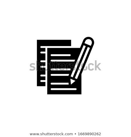 questionnaire and pencil Stock photo © devon
