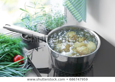 unpeeled boiled potatoes stock photo © ssuaphoto