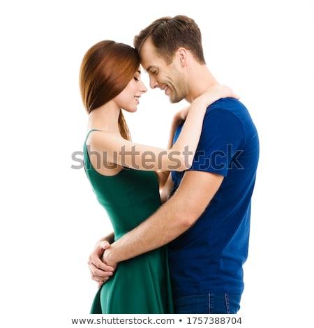 Egészalakos kép fiatal pár lezser áll Stock fotó © feedough