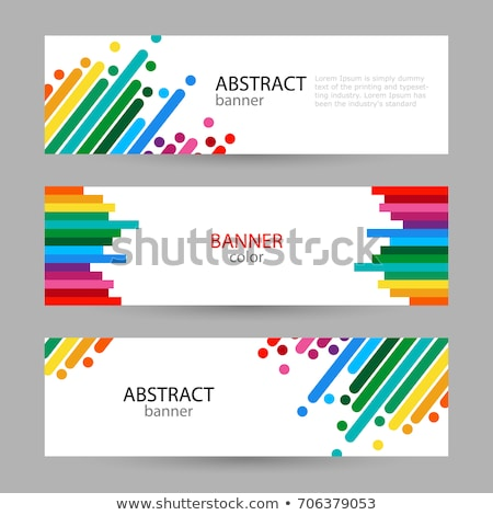 rainbow striped color background with text Stock photo © romvo
