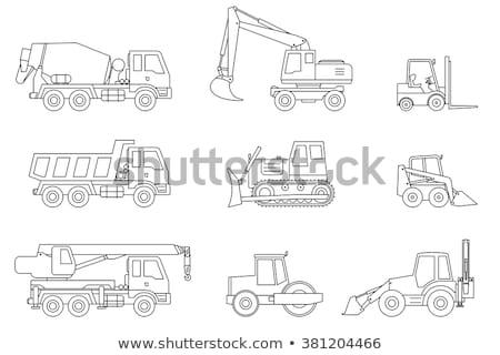 teherautó · beton · keverő · építkezés · ikonok · vektor - stock fotó © biv