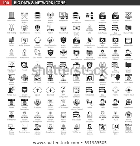 Database and networking icons 1 Stock photo © Genestro
