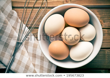 Eggs and Egg Whisk Stock photo © StephanieFrey