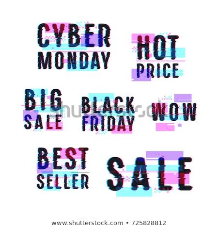 Foto stock: Black · friday · venda · distintivo · efeito · por · cento · desconto