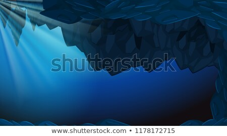 A dark underwater cave backgroubd Stock photo © bluering