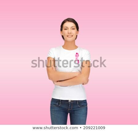 Pretty woman in the fight against breast cancer  Stock photo © wavebreak_media