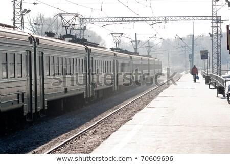 Railroad powerlines Stock photo © Stocksnapper