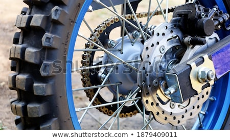 Rear wheel enduro motorcycle Stock photo © homydesign