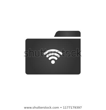 Klasör ikon wifi moda stil yalıtılmış Stok fotoğraf © kyryloff