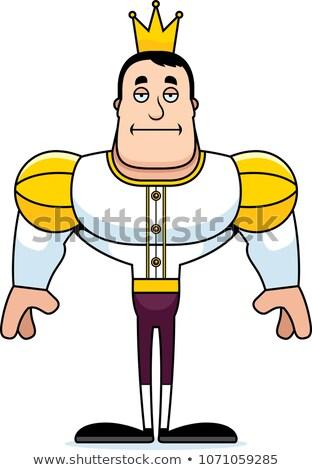 Cartoon aburrido príncipe mirando corona Foto stock © cthoman
