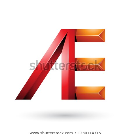 red and orange pyramid like dual letters of a and e vector illus stock photo © cidepix