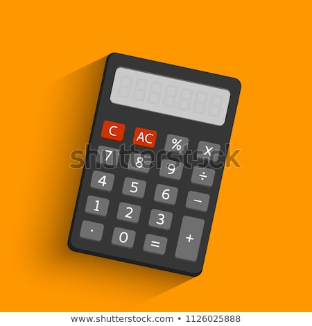 számológép · izometrikus · ikon · izolált · szín · vektor - stock fotó © robuart