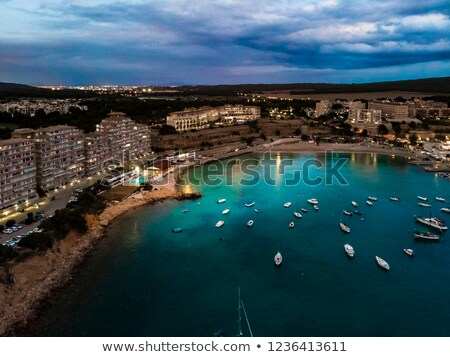 aerial view port adriano mallorca spain stock photo © amok