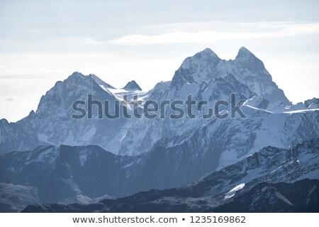 Aube belle montagne caucase Géorgie coloré Photo stock © Kotenko