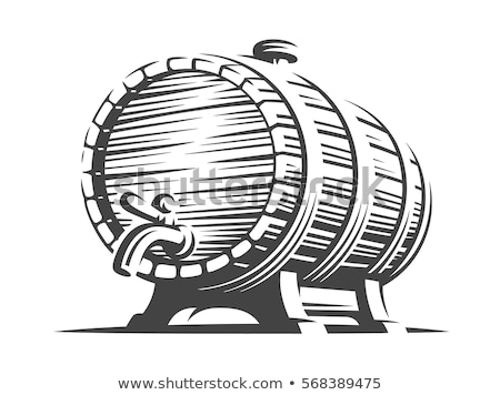 Oak Containers for Alcohol Storage Graphic Art Stock photo © robuart