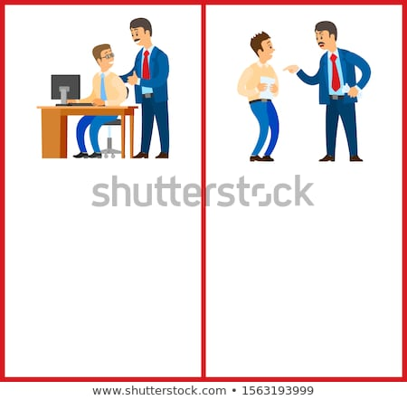 good and bad job chief executive at work set stock photo © robuart