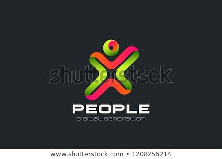 man winner letter x logo vector icon symbol stock photo © blaskorizov