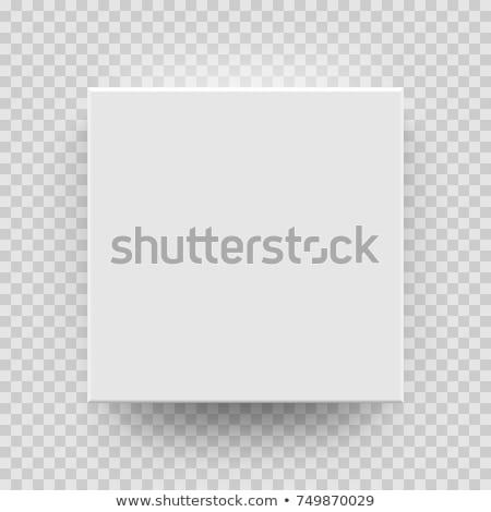 Caixa topo ver sombra para cima modelo Foto stock © Fosin