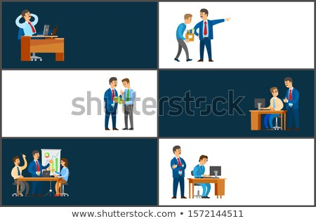 Working Break, Workers Dismissal, Good Bad Control Stock photo © robuart
