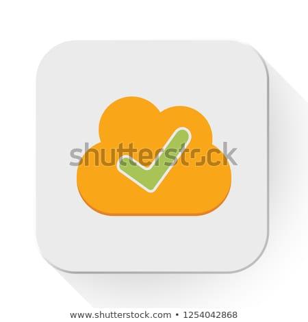 связи знак символ вектора облаке Сток-фото © kyryloff