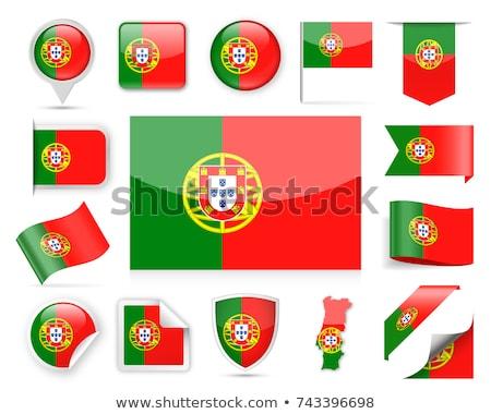 ストックフォト: ポルトガル · フラグ · 広場 · バッジ · 実例 · 木材