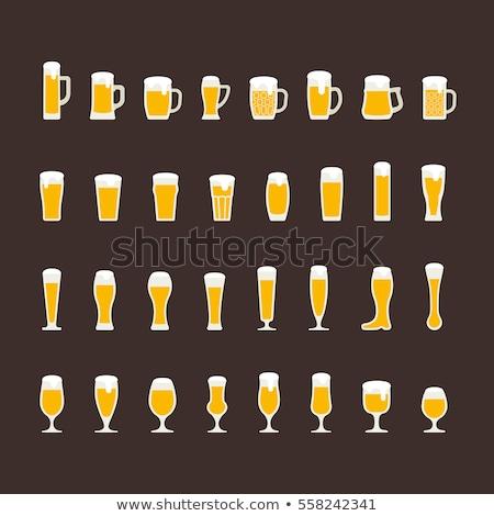 Stockfoto: Bier · pint · top · half · ijs