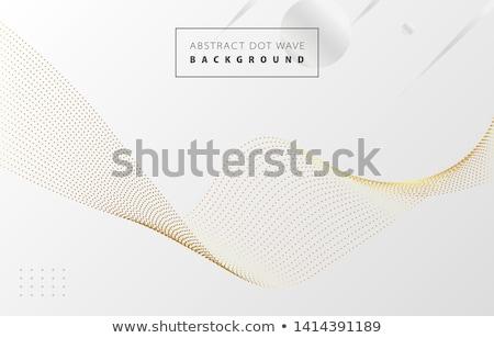 modern elegant golden wave business card Stock photo © SArts