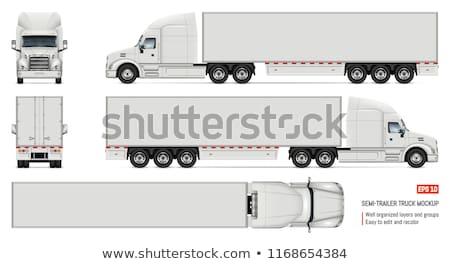 貨物 · トラック · テンプレート · コンテナ · 白 · 能力 - ストックフォト © mechanik