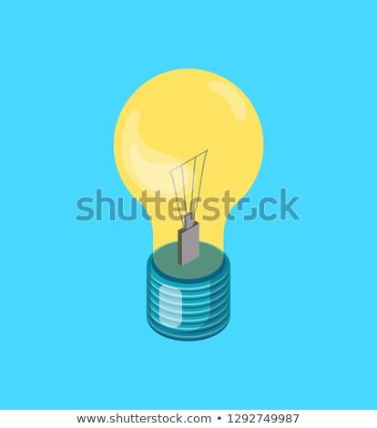 Elektrische Glühlampe Vektor realistisch Symbol neue Stock foto © robuart
